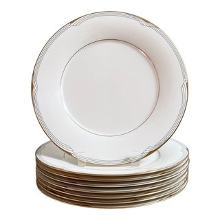 1980s Art Deco Design Dinner Plates by Noritake - Set of 8 For Sale
