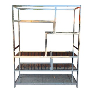 1960's Milo Baughman Style Chrome Etagere For Sale