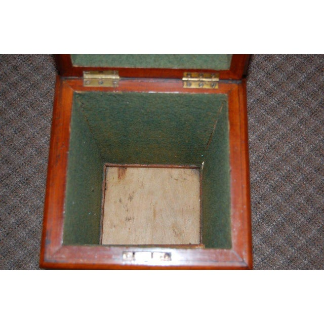 19th Century Tall Wooden Storage Box For Sale - Image 4 of 7