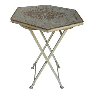 Painted Metal Folding Table For Sale