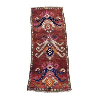"Vintage Handmade Turkish Rug-1'2'x3"" For Sale"