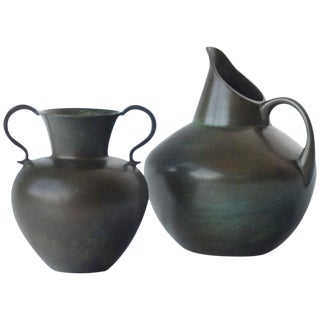 Pair of Vases by Gab Bronce For Sale