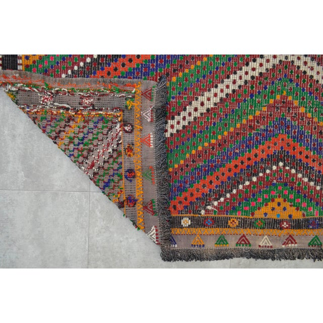"Hand Woven Turkish Kilim Area Rug - 6'9"" X 9'6"" - Image 9 of 9"