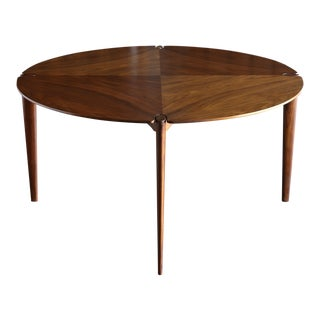 John Keal Walnut Dining or Game Table for Brown Saltman Circa 1960 For Sale