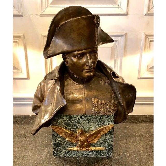 Late 19th Century Antique Rafael Nannini Bronze Bust of Napoleon I Sculpture For Sale - Image 10 of 10
