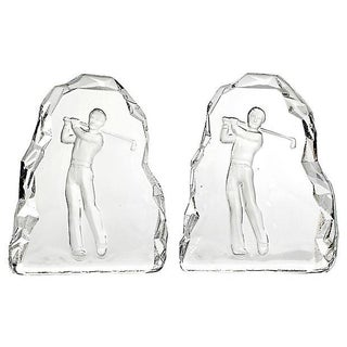 Glass Golfing Bookends - A Pair Preview
