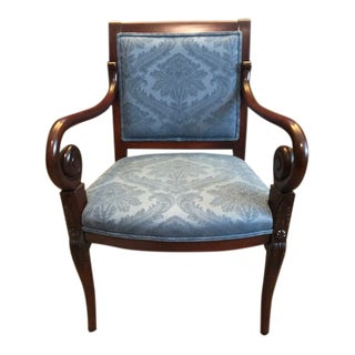 Drexel Heritage Mahogany Parlor Chair For Sale