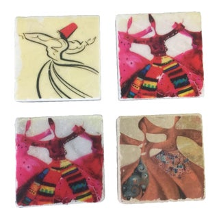 Whirling Derwish Magnets - Set of 4