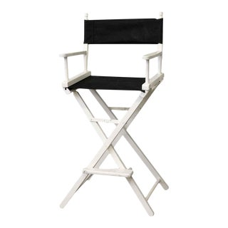 Black & White Gold Medal Director's Chair For Sale