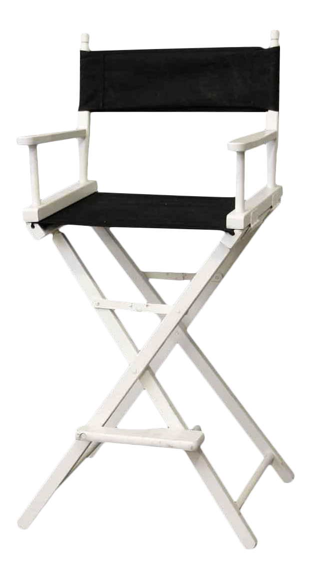 Black U0026 White Gold Medal Directoru0027s Chair