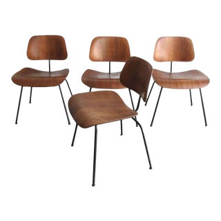 1950s Vintage Early Herman Miller Dcm Chairs by Ray & Charles Eames - Set of 4 For Sale