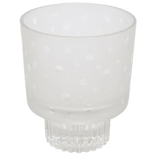 1940's Glass Circular Dotted Vase or Small Ice Bucket For Sale