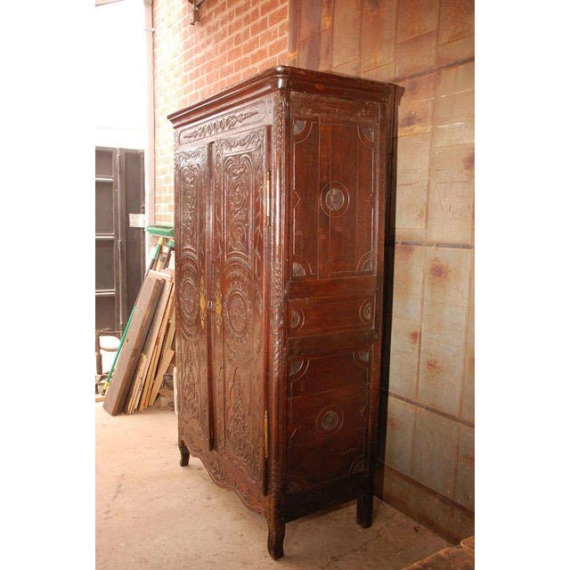 Metal Antique Louis XV Armoire For Sale - Image 7 of 10
