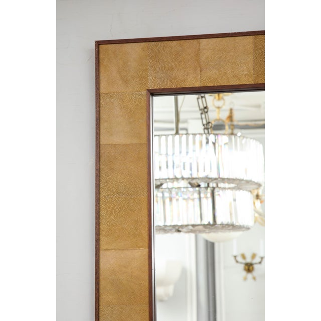 Rectangular Shagreen Mirror For Sale In New York - Image 6 of 7