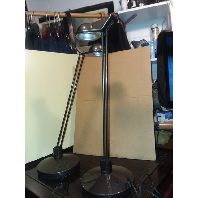 Brown Moving Sale Price $375 Metalarte Design Award Winning Anad E Table Lamps - a Pair For Sale - Image 8 of 9