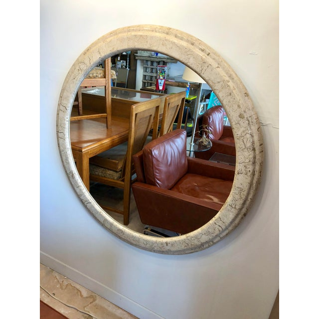 Contemporary Large Stone Wall Mirror For Sale In Charleston - Image 6 of 6
