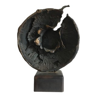 1950s Abstract Bronze Sculpture