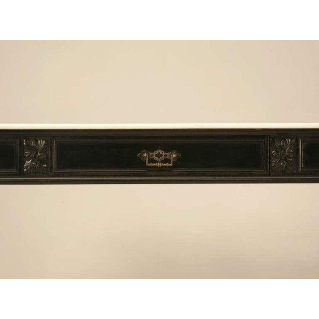 Ebonized Antique French Louis XVI Sofa Table For Sale - Image 4 of 10