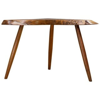 George Nakashima Wepman Table Live Edge Rustic CabinModern Stool Authenticated For Sale