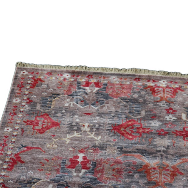 Picasso Soft Turkish Red Rug - 5′ × 7′7″ - Image 3 of 5