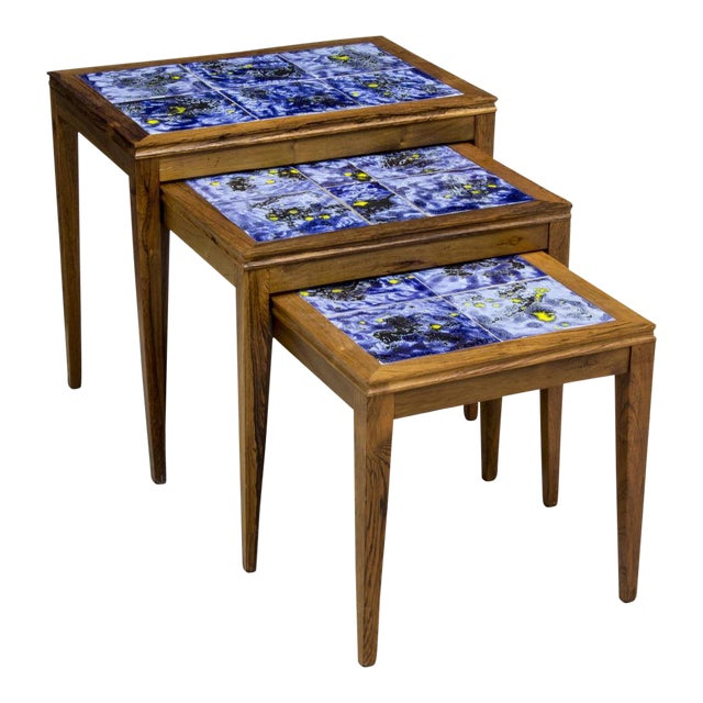 Modern Nesting Tables - Set of 3 - Image 1 of 8