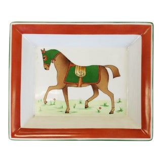 Limoges Equestrian Ashtray