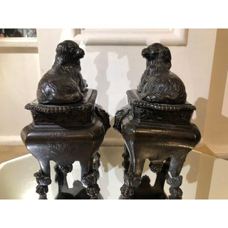Pair of Antique French Bronze Dog Form Chenets Preview