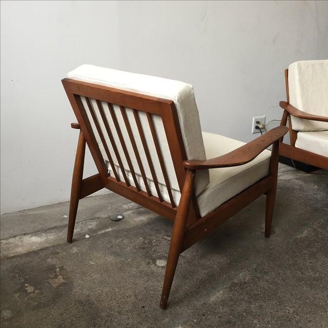 Oak Mid-Century Armchair-Single Chair - Image 5 of 11