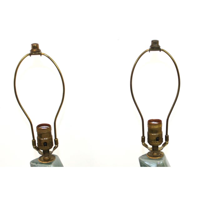 1950s Modern Cubist Ceramic Lamps - A Pair - Image 7 of 10