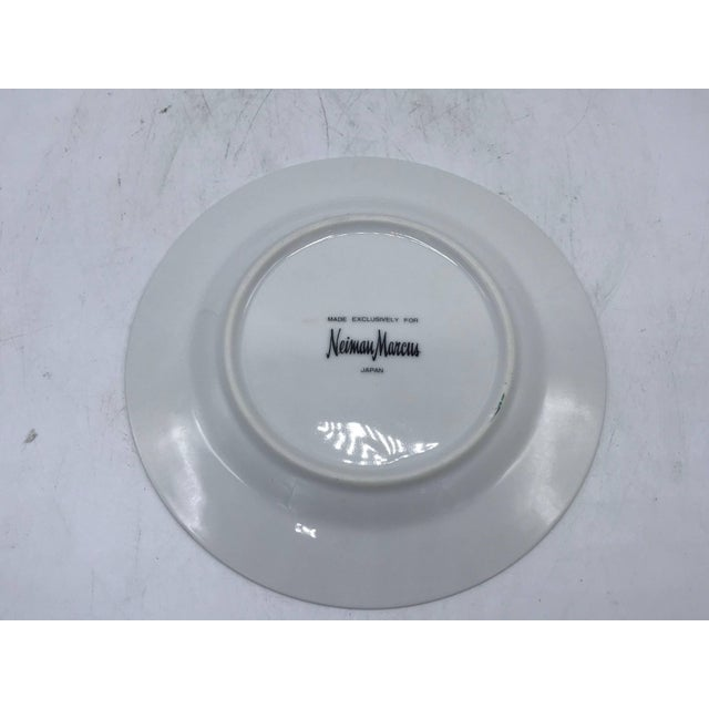 Green 1980s Neiman Marcus Malachite Porcelain Dessert Plates, Set of Four For Sale - Image 8 of 10