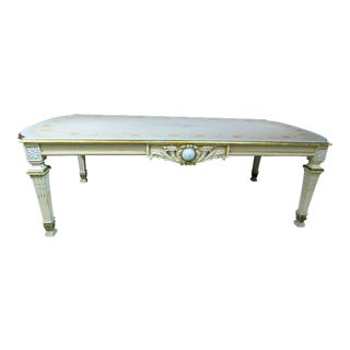 20th Century Swedish Style Paint Decorated Dining Room Table For Sale