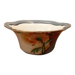 Vintage Noritake Lustreware Hand Painted Bowl For Sale