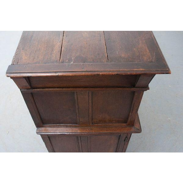 Metal English 17th Century Charles II Oak Chest of Drawers For Sale - Image 7 of 13
