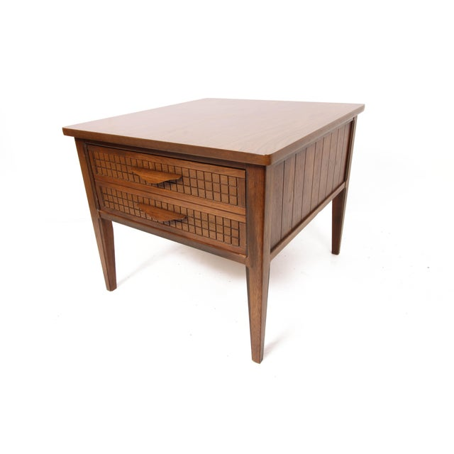 Mid Century Modern Single Drawer Side Table For Sale - Image 10 of 10