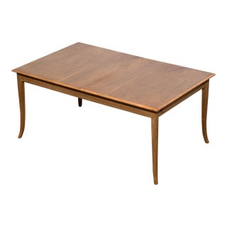 T. H. Robsjohn-Gibbings for Widdicomb Saber Leg Dining Table For Sale