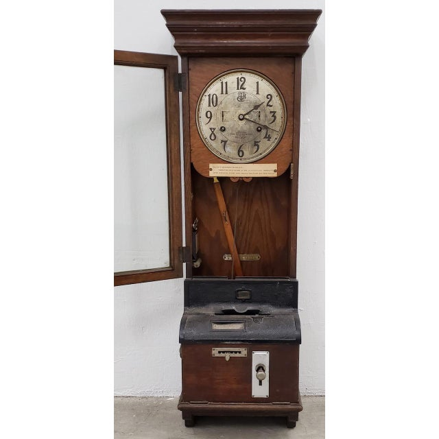 """Vintage """"International Time Recording"""" Time Clock c.1930s Old school time clock used by the Department of the Navy. Housed..."""