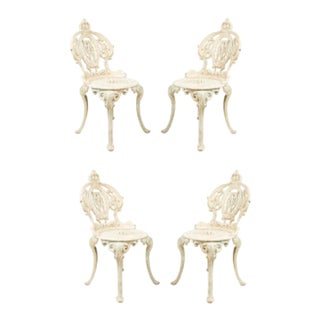 American Victorian Painted Iron Side Chairs - Set of 4 For Sale