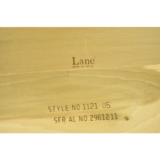 Mid Century Modern Lane Walnut Smoked Glass Modernist End Tables - a Pair For Sale - Image 10 of 12