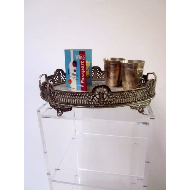 Ornate Silver Perfume Vanity Serving Tray - Image 7 of 8