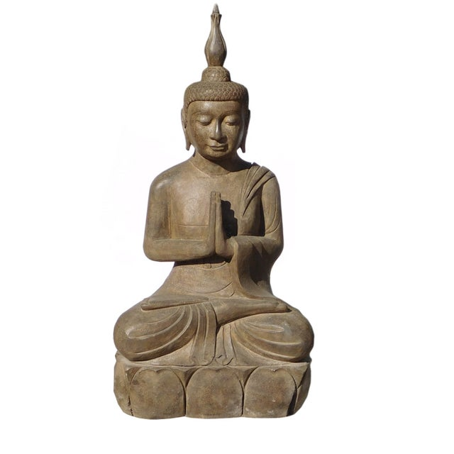 Asian Buddha Meditation Statue - Image 1 of 6