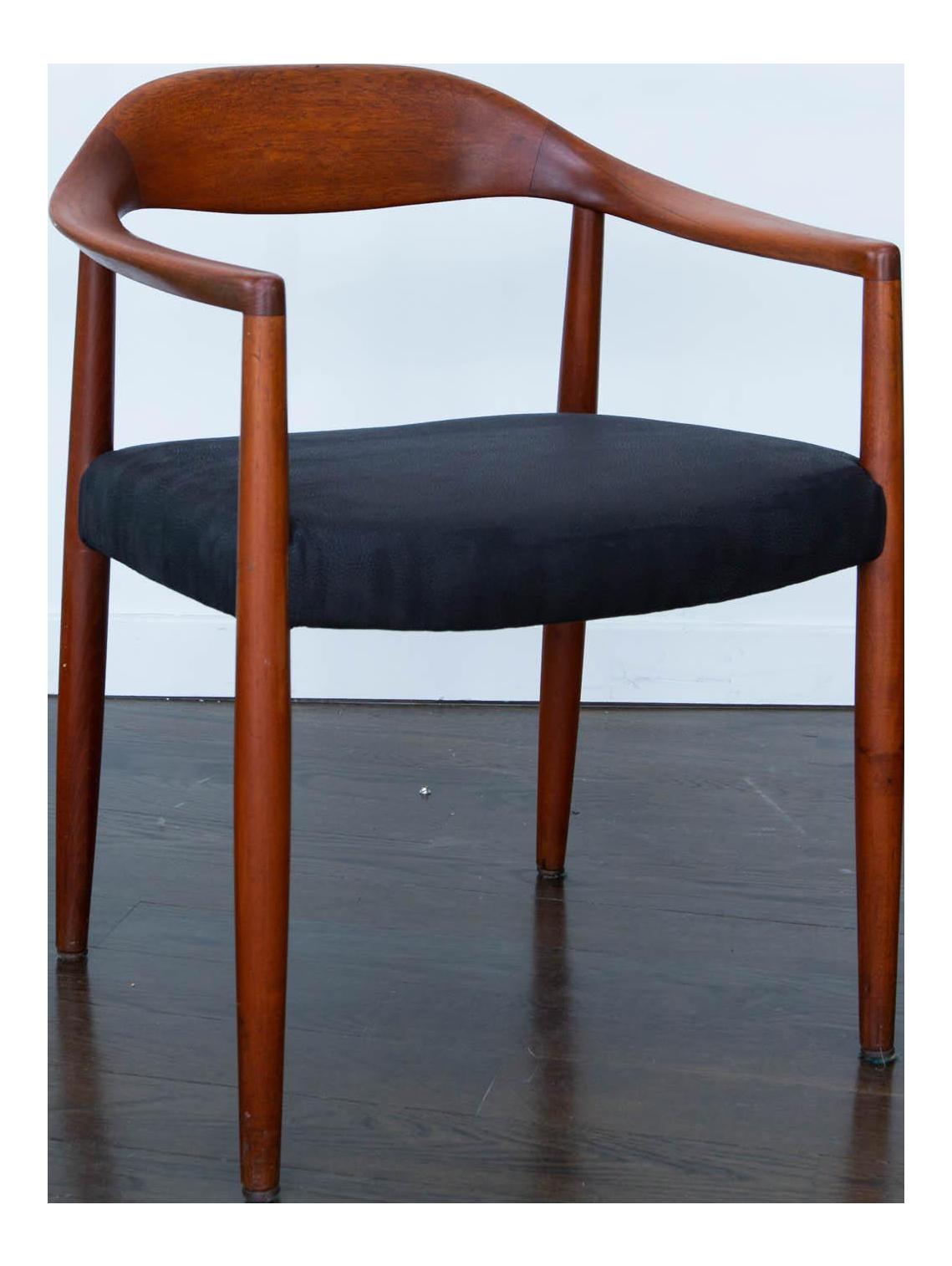 Nice Hans Wegner Round Chair #8 - Hans Wegner Round Chair Style Teak Armchair - Image 1 Of 7