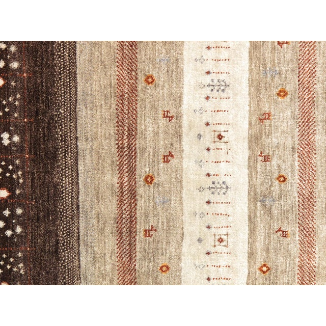 """Tribal Hand-Knotted Shiraz Wool Rug - 5'6"""" x 7'7"""" - Image 2 of 4"""