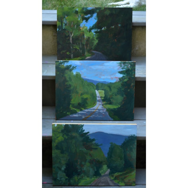 """""""Back Road in Vermont"""" Painting by Stephen Remick For Sale - Image 9 of 11"""
