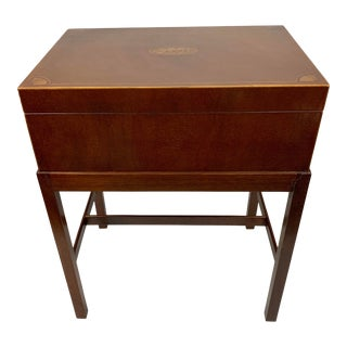 20th Century Traditional Baker Furniture Mahogany Box on Stand Table For Sale
