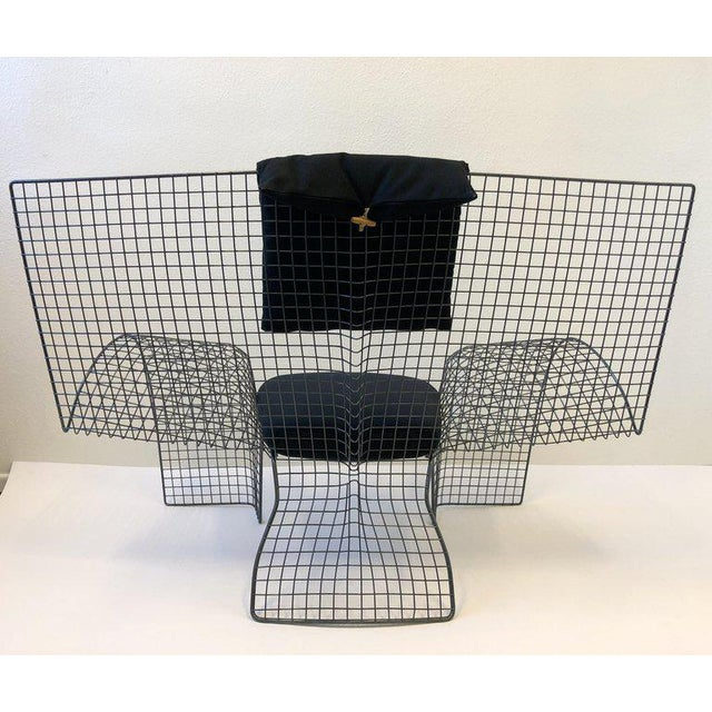 Memphis Steel Mesh Chair by D'Urbino Lomazzi for Zerodesigno For Sale - Image 10 of 11