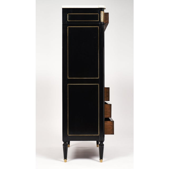 Gold Louis XVI Style French Antique Secretary Desk For Sale - Image 8 of 10