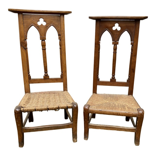 Antique Prayer Chairs - a Pair For Sale