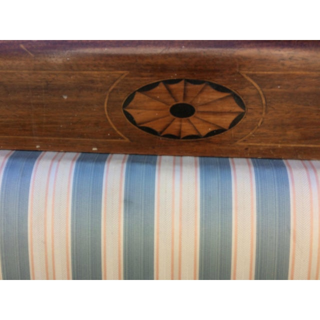 Traditional Antique Sheraton Style Loveseat - Image 7 of 11