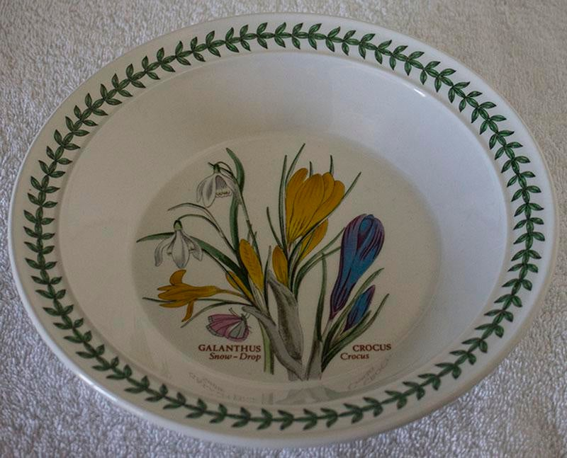 Set Of 6 Portmeirion Botanic Garden Soup Bowls Chairish