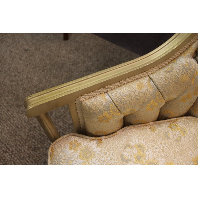 Louis XV French Bergere Tufted Back Chair - Image 9 of 11